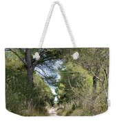 Long Forest Road Weekender Tote Bag