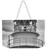 Long Point Lighthouse - Black And White Weekender Tote Bag