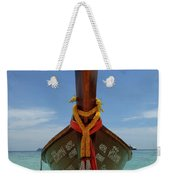Long Tail Boat Thailand Weekender Tote Bag
