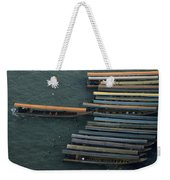 Long-tail Boats Anchored On The Chao Weekender Tote Bag
