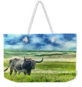 Longhorn Prarie Weekender Tote Bag by Jeff Kolker