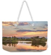Longs Peak Evening Sunset View Weekender Tote Bag