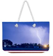 Looking East Lightning Strike Weekender Tote Bag