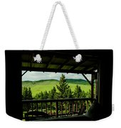 Looking Out From Inside Weekender Tote Bag