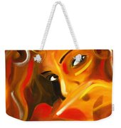 Looking Over Her Shoulder Weekender Tote Bag