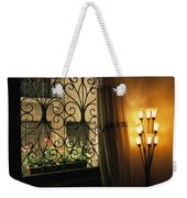 Looking Through Iron Filagree Window Weekender Tote Bag