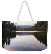 Looking Towards Leaburg Dam Weekender Tote Bag