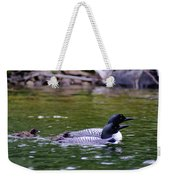 Loons With Twins 3 Weekender Tote Bag