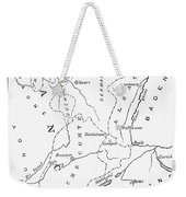 Lorraine And Alsace: Map Weekender Tote Bag