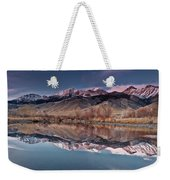 Lost River Range Winter Reflection Weekender Tote Bag