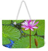 Lotus Blossom And Water Lily Pads Weekender Tote Bag