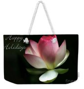 Lotus Flower Holiday Card Weekender Tote Bag