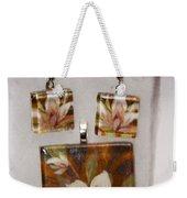 Lotus Flower Pendant And Earring Set Weekender Tote Bag