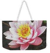 Lotus In The Rain 3 Weekender Tote Bag
