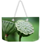 Lotus Seed Pods Weekender Tote Bag