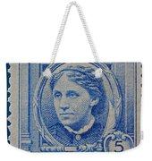 Louisa May Alcott Postage Stamp  Weekender Tote Bag
