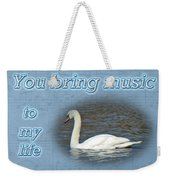 Love - I Love You Greeting Card - Mute Swan Weekender Tote Bag