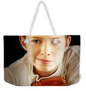 Love Baseball Weekender Tote Bag by Lj Lambert