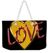 Love Gold And Red Weekender Tote Bag