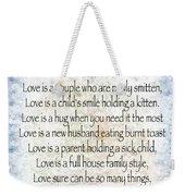 Love Poem In Blue Weekender Tote Bag