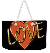 Love In Gold And Copper Weekender Tote Bag