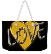 Love In Gold And Silver Weekender Tote Bag