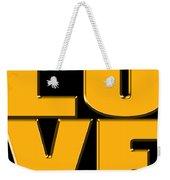 Love In Gold Weekender Tote Bag
