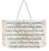 Love Poem In Orange Weekender Tote Bag