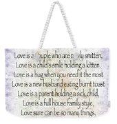 Love Poem In Purple  Weekender Tote Bag