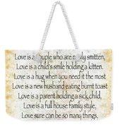 Love Poem In Yellow Weekender Tote Bag