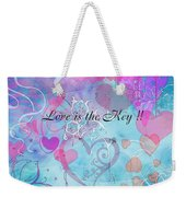 Love Is The Key Weekender Tote Bag