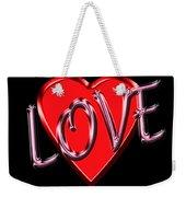 Love Pink And Red  Weekender Tote Bag