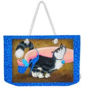 Love Pump Blue Weekender Tote Bag