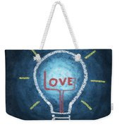 Love Word In Light Bulb Weekender Tote Bag