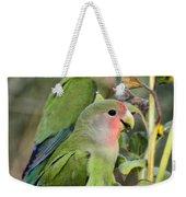 Lovebird Couple  Weekender Tote Bag