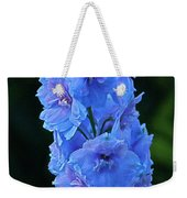 Lovely Larkspur Blue Weekender Tote Bag