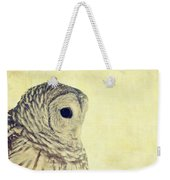 Lovely Lucy Barred Owl Weekender Tote Bag