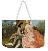 Lovers In A Landscape Weekender Tote Bag