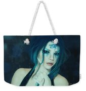 Loving Blue Hair Weekender Tote Bag