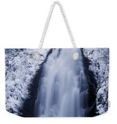 Low Angle View Of A Waterfall, Glenoe Weekender Tote Bag