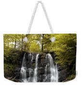 Low Angle View Of A Waterfall In A Weekender Tote Bag