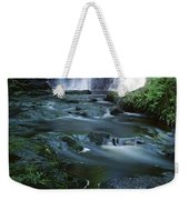 Low Angle View Of A Waterfall Weekender Tote Bag