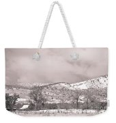 Low Clouds On The Colorado Rocky Mountain Foothills 3 Bw Weekender Tote Bag