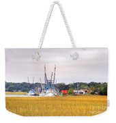Low County Marsh View Shrimp Boats Weekender Tote Bag