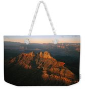 Low Sunlight Shines On Mountains Weekender Tote Bag