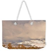 Low Winter Storm Clouds Colorado Rocky Mountain Foothills 4 Weekender Tote Bag