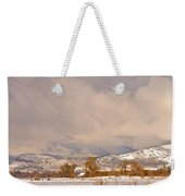 Low Winter Storm Clouds Colorado Rocky Mountain Foothills 5 Weekender Tote Bag