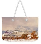 Low Winter Storm Clouds Colorado Rocky Mountain Foothills 6 Weekender Tote Bag