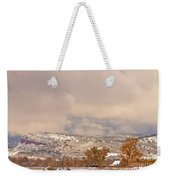 Low Winter Storm Clouds Colorado Rocky Mountain Foothills 7 Weekender Tote Bag