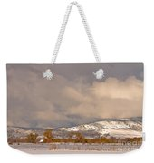 Low Winter Storm Clouds Colorado Rocky Mountain Foothills Weekender Tote Bag